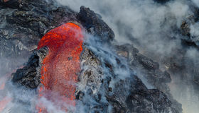 Kilauea Volcano Lava Flow Arkivfoto