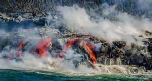 Kilauea Volcano Lava Flow Fotos de Stock Royalty Free