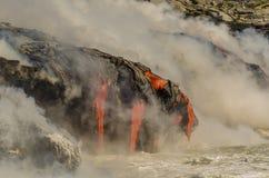 Kilauea Volcano Lava Flow Imagens de Stock