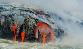 Kilauea Volcano Lava Flow stockfotos