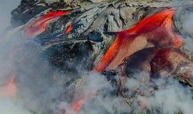 Kilauea Volcano Lava Flow Imagem de Stock