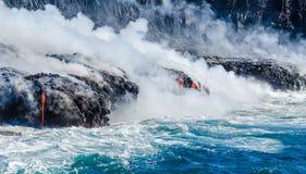 Kilauea Volcano Lava Flow Royaltyfri Foto