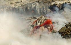 Kilauea Volcano Lava Flow Royaltyfri Bild
