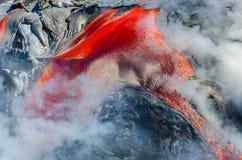 Kilauea Volcano Lava Flow Royaltyfria Foton