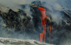 Kilauea Volcano Lava Flow stockfotografie