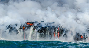 Kilauea Volcano Lava Flow Arkivbilder