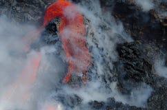 Kilauea Volcano Lava Flow Royaltyfria Bilder