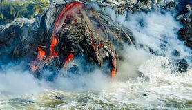 Kilauea Volcano Lava Flow Stock Photo