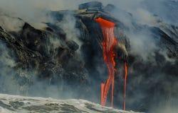 Kilauea Volcano Lava Flow Stock Photography