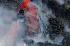 Kilauea Volcano Lava Flow Royalty Free Stock Images