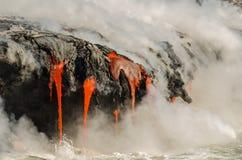Kilauea Volcano Lava Flow stock photo