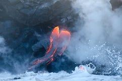 Kilauea volcano lava flow, Hawaii Stock Photos