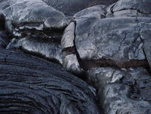 Kilauea Volcano Lava Rock. Kilauea volcano lava cooled to form black rock in Hawaii Stock Photography