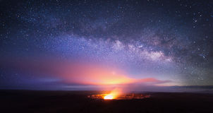 Kilauea Volcano under  the stars Stock Photo
