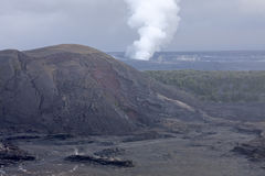 Kilauea Vulkan-Krater, Hawaii Lizenzfreies Stockfoto