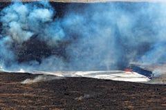 Kilauea vulkan på den stora ön, Hawaii Royaltyfria Foton