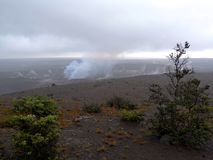 Kilauea wulkanu krater fotografia stock