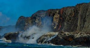 Kilauea wulkanu Lawowy przepływ Fotografia Royalty Free