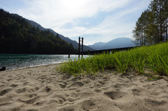 Kilby Beach. Beach view at Kilby, BC Stock Photo