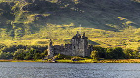 Kilchurn城堡废墟在苏格兰 库存照片