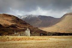 kilchurn Шотландия замока Стоковое Изображение RF