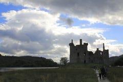 Kilchurn Castle, καταστροφή κάστρων στο δέο λιμνών, στο Χάιλαντς της Σκωτίας στοκ εικόνα