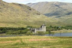 Kilchurn castle in Loch Awe. Stock Photography