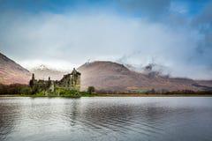 Kilchurn Castle over lake Stock Image