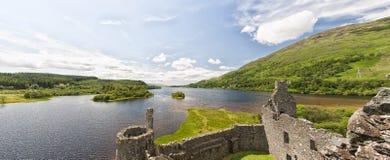 Kilchurn Castle Panorama Stock Image