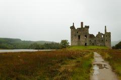 Kilchurn Castle panorama, Scotland Stock Images