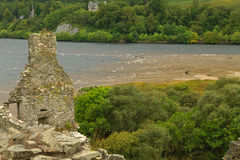 Kilchurn Castle panorama, Scotland Royalty Free Stock Photos