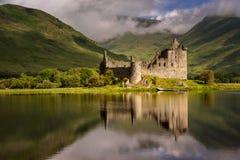 Kilchurn Castle reflection Royalty Free Stock Photo