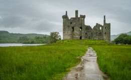 Kilchurn Castle, ruins near Loch Awe, Argyll and Bute, Scotland. Kilchurn Castle is a ruined structure on a rocky peninsula at the northeastern end of Loch Awe Royalty Free Stock Images