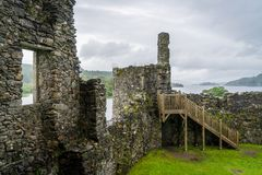 Kilchurn Castle, ruins near Loch Awe, Argyll and Bute, Scotland. Kilchurn Castle is a ruined structure on a rocky peninsula at the northeastern end of Loch Awe Royalty Free Stock Photos