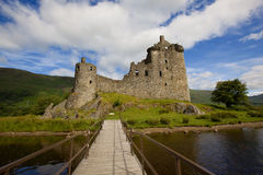 Kilchurn Castle Ruins. Ruins of Kilchurn Castle on Loch Awe in Scotland Royalty Free Stock Photo
