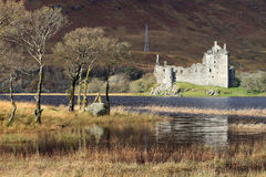 Kilchurn Castle ruins by Loch Awe, Scotland. View across North East corner of Loch Awe to the ruins of Kilchurn Castle, Scotland Royalty Free Stock Photo
