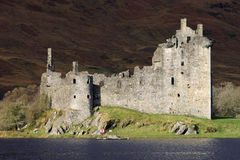 Kilchurn Castle ruins by Loch Awe, Scotland. Stock Image
