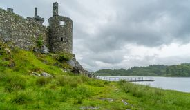 Kilchurn Castle, ruins near Loch Awe, Argyll and Bute, Scotland. Kilchurn Castle is a ruined structure on a rocky peninsula at the northeastern end of Loch Awe Stock Images