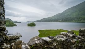Kilchurn Castle, ruins near Loch Awe, Argyll and Bute, Scotland. Kilchurn Castle is a ruined structure on a rocky peninsula at the northeastern end of Loch Awe Stock Photography