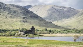 Kilchurn Castle, ruins near Loch Awe, Argyll and Bute, Scotland. Stock Photography