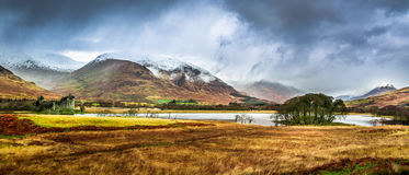 Kilchurn Castle in Winter Royalty Free Stock Images