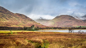 Kilchurn Castle in Winter Stock Images