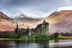 Kilchurn Castle in Winter royalty free stock photo