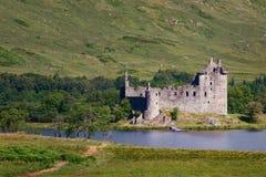 Kilchurn kasztel lokalizuje na północnej poradzie Loch respekt, buil obrazy stock