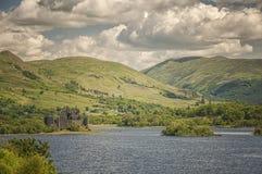 Kilchurn kasztelu Loch respekt obrazy stock