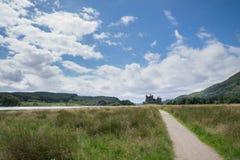 Kilchurn-Schloss, Loch-Ehrfurcht, Argyll und hochgebogene Hinterkante, Schottland Lizenzfreies Stockbild