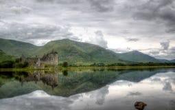 Kilchurn slott, fjordvördnad, Skottland Royaltyfria Bilder