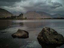 Kilchurn slott Skottland arkivbild