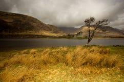 Kilchurn slott Skottland Fotografering för Bildbyråer