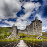 Kilchurn slott Skottland Arkivfoton